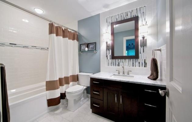 Bathroom tile ideas for tight budgets kbr for Tight bathroom design